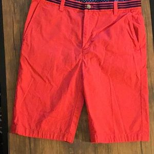 Vineyard Vines Kids Shorts Red 16 Adjustable Waist